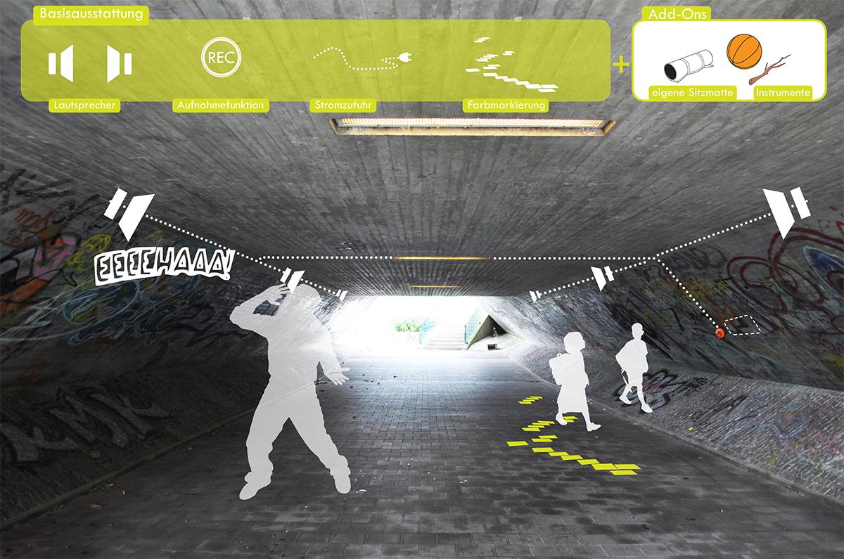 Hoerstation im Tunnel