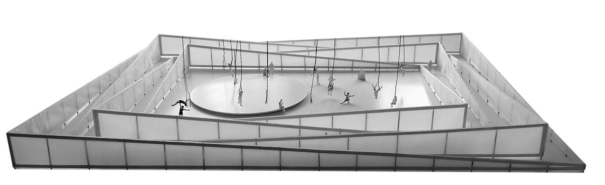 Modell_ Ausstellungsarchitektur und Bühnenbild