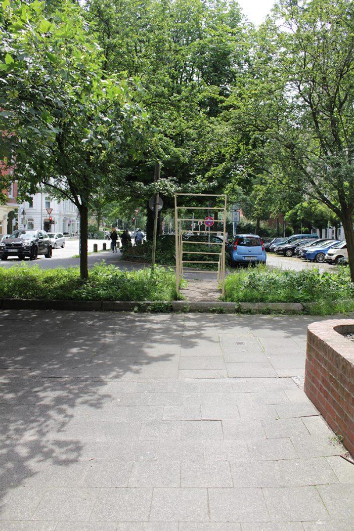 Intervention in der Ahlmannstraße